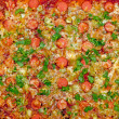 Cooked pizza texture — Stock Photo
