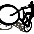 Royalty-Free Stock Vector Image: Bike silhouettes manual