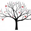 Valentine tree — Stock Vector #20048799
