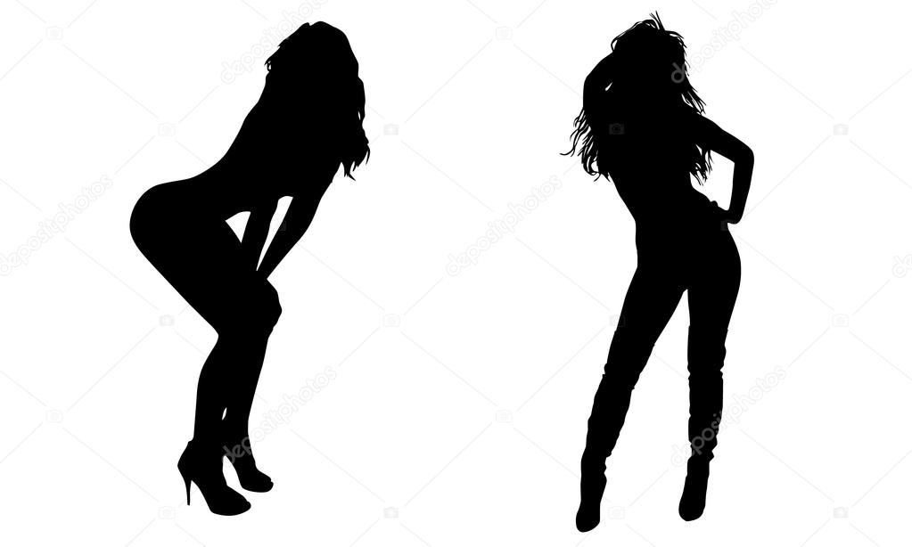 Above told Sexy lady silhouette images