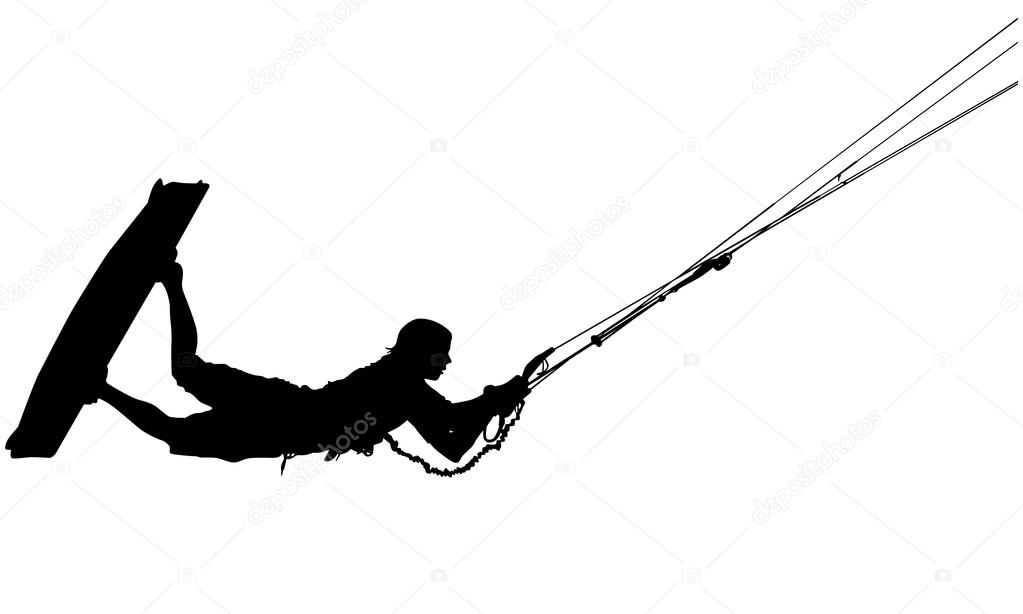 wakeboard silhouette — Stock Illustration © Ivan Šaněk #