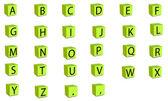 3d font cube — Stock Vector