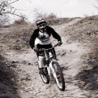 Stock Photo: Freeride in bike
