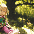 Stock Photo: Portrait of a child in nature