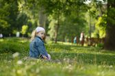 Portrait of a child in nature — Stock Photo
