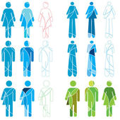 A set of abstract human gender icons — Stock Photo