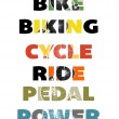 Stock Vector: Cycling Text Graphics