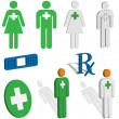 Royalty-Free Stock 矢量图片: First aid or EMS icons