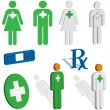 Royalty-Free Stock Imagen vectorial: First aid or EMS icons