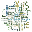 Money and financial word graphic — Image vectorielle