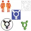 Set of transgender icons — Vetorial Stock #18410587