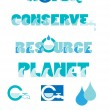 Stock Vector: Water conservation graphics