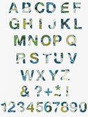 Chiffres et lettres de l'alphabet — Vecteur