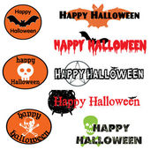 A set of vector graphics and banners for Halloween — Stock Vector