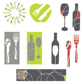 Catering icons and menu design elements — Stock Vector