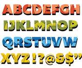 Písmena abecedy a čísla — Stock vektor