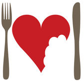 Imagen no conceptualizar un ningún sentimiento de san valentín amor o anti — Vector de stock