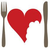 Obraz konceptualizacji nie miłości lub anty sentyment walentynki — Wektor stockowy