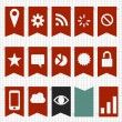A set of flag style navigation elements - Stockvektor