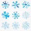 Snowflake set — Stock Vector #21284719