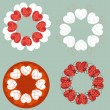 A set of love heart design elements vectors — Stockvectorbeeld