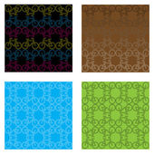 Set of four bicycle pattern graphics — Stock Vector