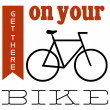 A bike themed poster graphic for keen cyclists — Stock Photo