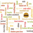 Food names text — Stockfoto