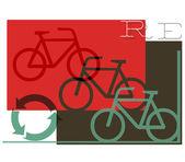 Un grafico di ciclismo riciclaggio astratto — Foto Stock