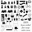 Icons of various things — Stock Vector