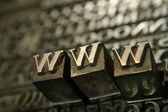 Movable type WWW — Stock Photo