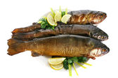Smoked Trouts — Stock Photo