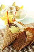 Fruit Ice Cream Cone — Stock Photo