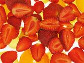 Strawberry on Ice — Stock Photo