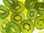 Fruits on ice — Stock Photo