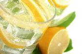 Lemon in Soda — Stock Photo