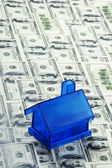 Mavi para evi — Stok fotoğraf