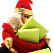Santa puppet — Stock Photo