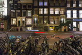 Amsterdam at night — Stock Photo
