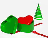 To gift your heart,christmas — Stock Photo