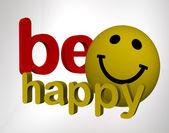 Be happy — Stock Photo