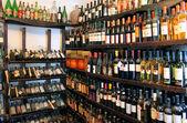 Shot of wineshelf — Stock Photo