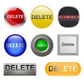 """""""Delete"""" icons — Stock Vector"""