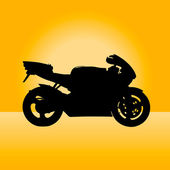 Silhouette of sportbike — Stock Vector
