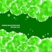 Background of green — Stock Vector