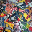 A collage made of pin up magazine covers — Stock Photo