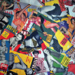 Stock Photo: Collage made of pin up magazine covers