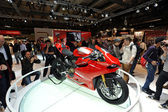 The new Ducati 1199 Panigale R in the Ducati stand at EICMA fair — Stock Photo