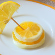 Fancy lemon, three slices. — Stock Photo