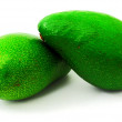 Stock Photo: Two avocados.